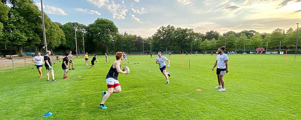Training mit Nationalspieler