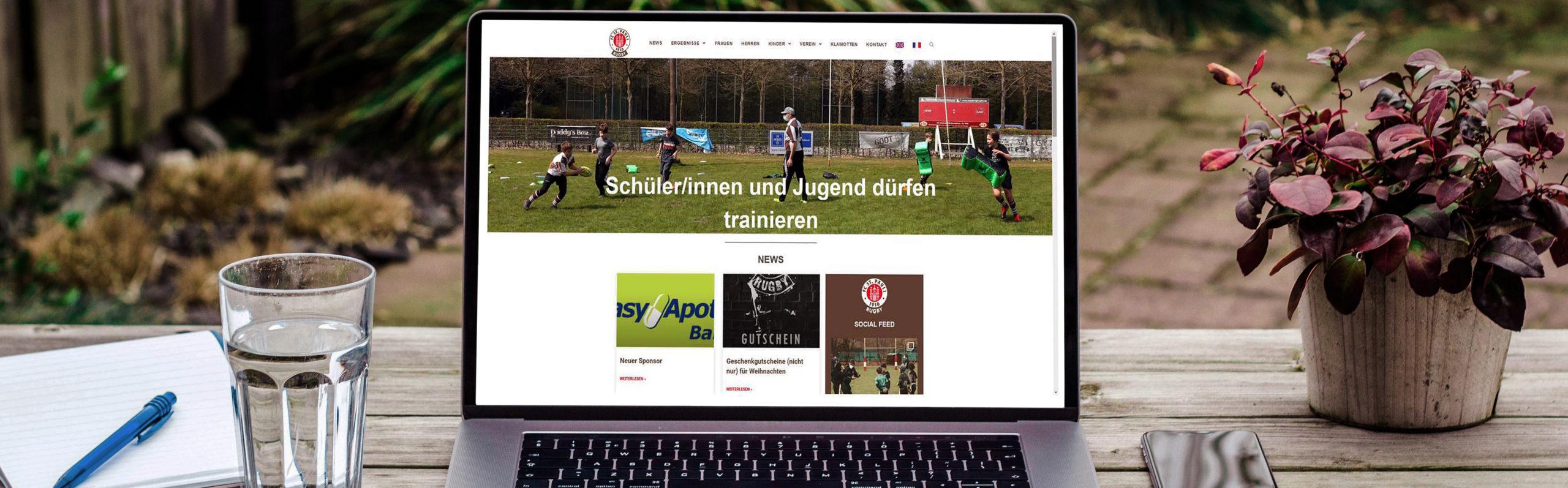 Webseite strahlt im neuen Glanze